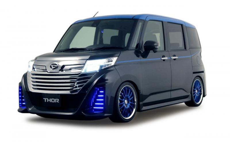 Kei-car Daihatsu Thor yang didatangkan dari Jepang sempat dipamerkan di ajang GIIAS 2017 silam. (dok. ADM)