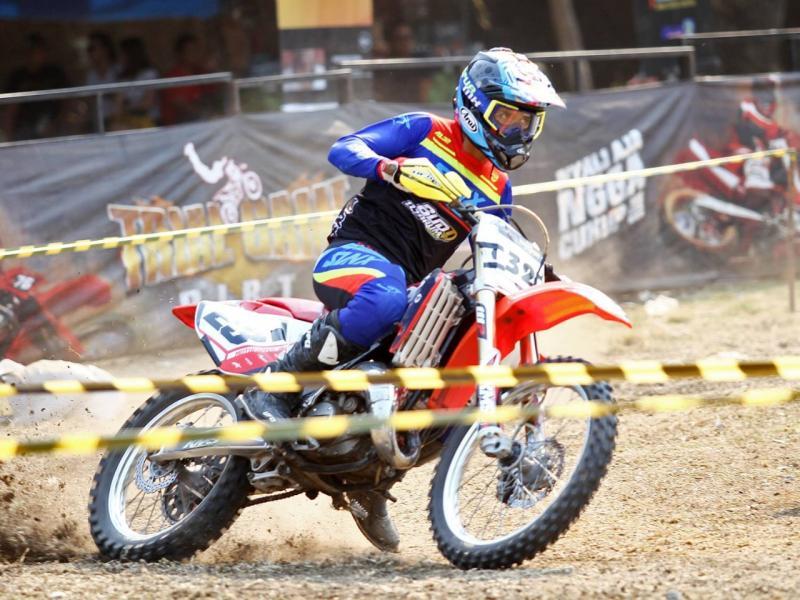 Rider asal Boyolali, Asep Lukman jadi raja baru Trial Game Dirt