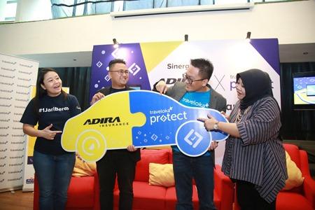 Traveloka akan mendukung Adira Insurance dengan menyediakan platform dan sistem yang terintegrasi.(istimewa)