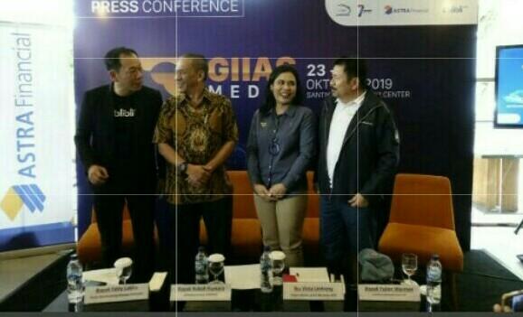 Dari kiri Eddy Lukita, Kukuh Kumara, Sri Vista Limbong dan Yulian Warman saat preskon GIIAS Medan 2019