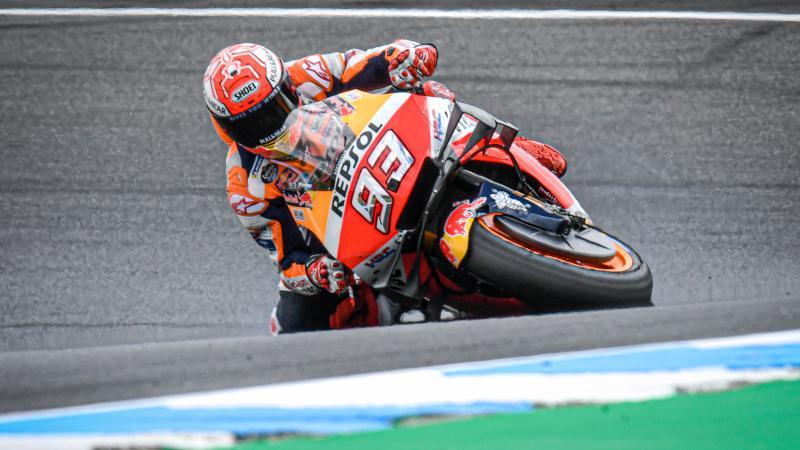 Ini rekor baru kemiringan di dalam tikungan, masih milik Marc marqez (Repsol Honda). (Foto: motogp.com)