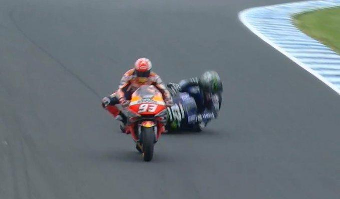 Momen di lap terakhir GP Australia, bukti kecerdikan Marc Marquez. (Foto: motogp)