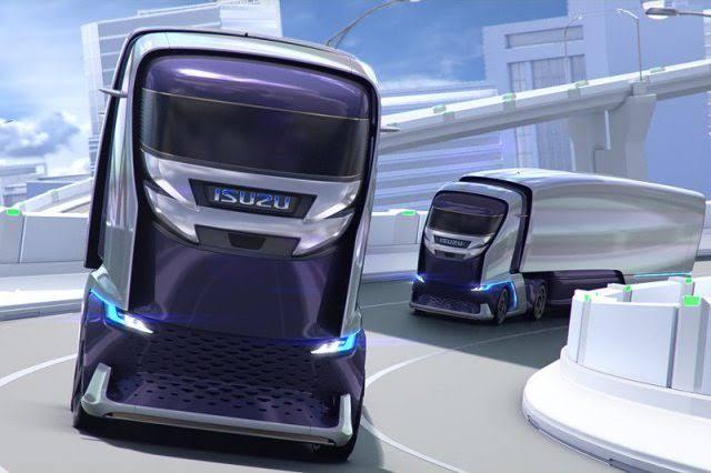 Truk dengan desain futuristis ini dilengkapi fitur keselamatan seperti Blind Spot Monitor yang menerapkan radar gelombang milimeter. (dok. Isuzu)