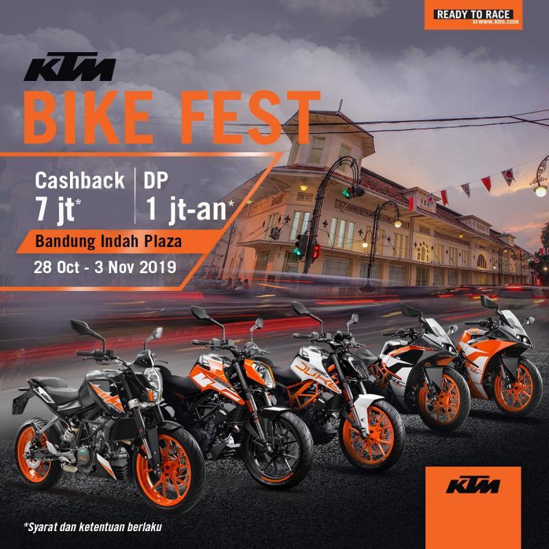 Promo Cicilan Bunga 0% Dan Cashback Hingga Rp 7 Juta, Hanya Di KTM Bike Fest