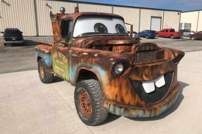 Replika Tow Mater di film cars hasil karya modifikator asal Amerika Serikat (ist)