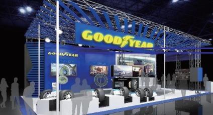 Konsep ban yang dikembangkan oleh Goodyear untuk mobil konsep Lexus EV tampil perdana di gerai Lexus pada Tokyo Motor Show ke-46 tahun 2019.(dok. Goodyear)