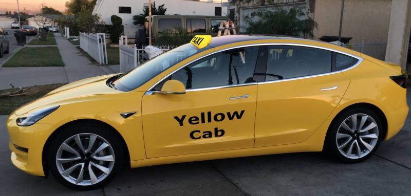 Perusahaan Taksi Yellow Cab pilih mobil listrik Tesla Model 3 sebagai armada baru (ist)