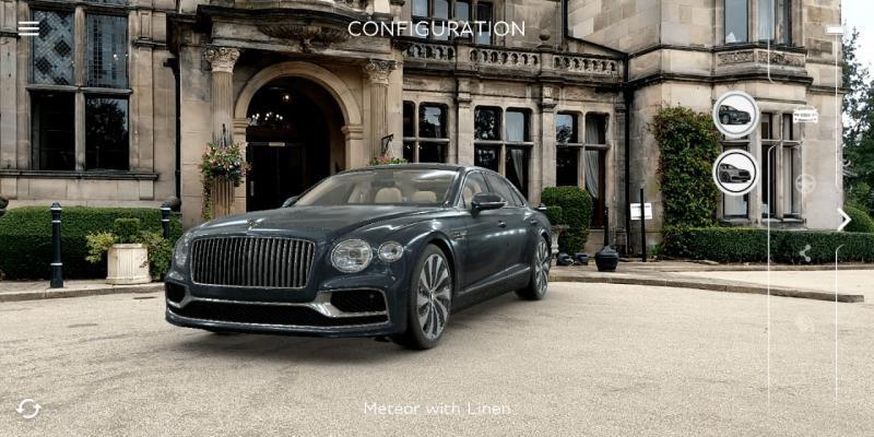 Bentley meluncurkan aplikasi Augmented Reality untuk menampilkan the new Flying Spur
