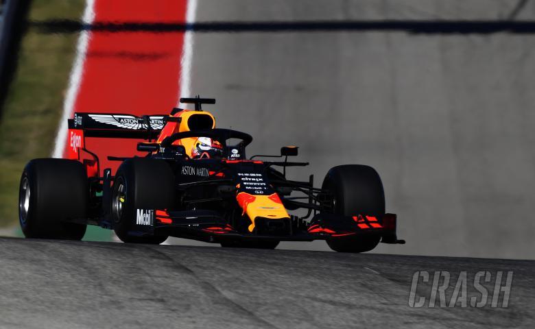 Max Verstappen (Red Bull ) tercepat dalam uji ban prototype 2020 di Texas. (Foto: crash)