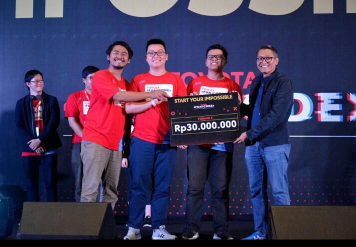 Ga Chibi dengan aplikasi RENTO berhasil menjadi juara pertama Toyota Fun/Code yang diumumkan di Putri Duyung Ancol Jakarta hari ini