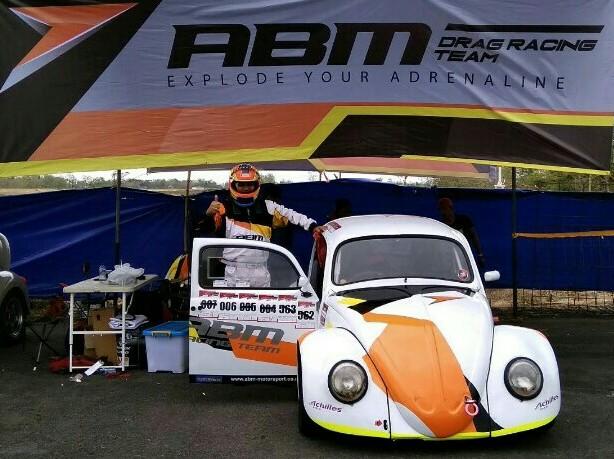 Agustinus Ariyanto berhasil pertajam waktu di Indonesia Drag VW Series Gunung Kidul