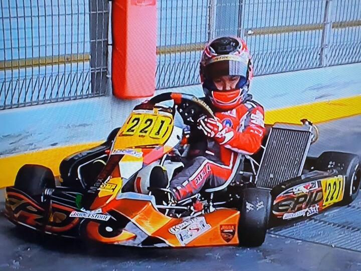 Daffa AB saat berlatih di sirkuit KF1 Singapura dengan mengandalkan sasis Intrepid pada 2 pekan lalu. (foto : p-five)