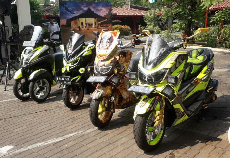 Wow Keren, Jajaran Yamaha NMax Modifikasi Hiasi Panggung NMax Riders Gathering Warung Solo