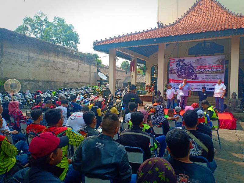 Panitia mencatat total ada 24 klub dan komunitas dengan jumlah keseluruhan mencapai 222 motor yang melakukan registrasi ulang. (foto: Iwan).