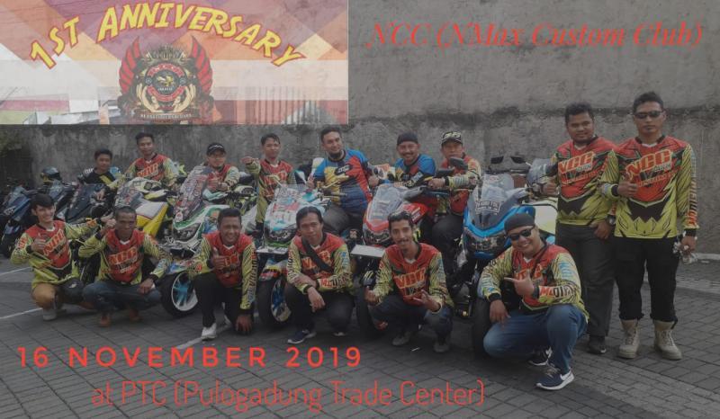 Datang Dan Meriahkanlah, Bersatu Bersaudara Di Ajang 1st Anniversary NMAX Custom Club