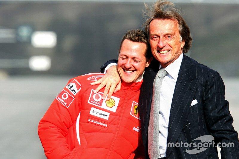 Luca di Montezemolo (kiri) bersama Michael Schumcaher. (Foto: motorsport)