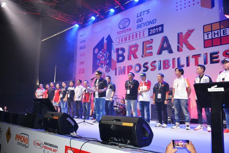 Sejalan dengan tema Break The Impossibilities, Jamboree 2019 hadir untuk makin mendekatkan sesama anggota komunitas Toyota. (anto)