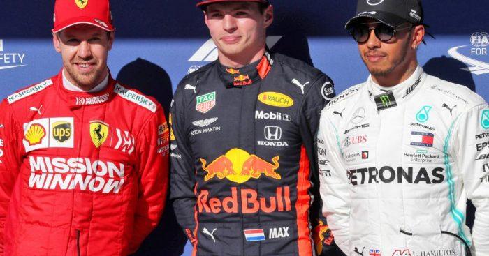 Tiga driver dari tiga pabrikan berbeda, daya tarik Interlagos sejak garis start. (Foto: f1.com)