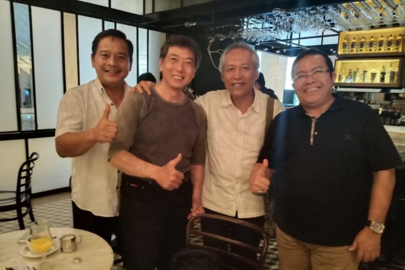 Dari kiri James Sanger, Frans Tanujaya, Chandra Alim dan Riduan Tumenggung