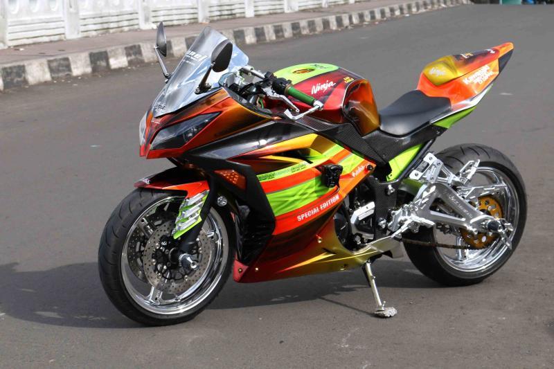 Modifikasi Kawasaki N250FI; Nostalgia Bersama Motor Lama