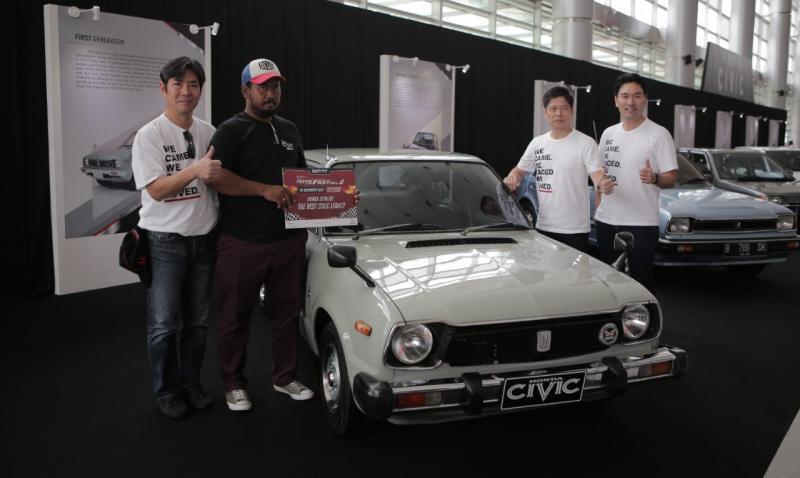 Penghargaan tersebut diberikan bagi mobil milik komunitas yang memiliki nilai tertinggi dari faktor kondisi, orisinalitas dan usia yang ditampilkan pada ajang Honda Fastival. (ist)