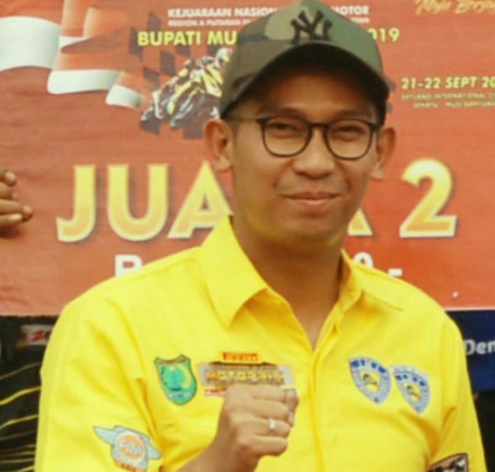 Muhammad Fariz selaku Kadispopar Kabupaten Musi Banyuasin happy MAAGC dibanjiri peserta lokal dan mancanegara. (foto :  ist)