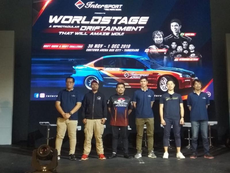 Intersport juga akan menghadirkan Pro Drifter Internasional serta Intersport AR Team dan Pro Drifter lainnya di Indonesia. (anto)