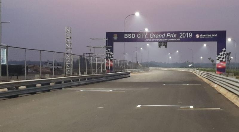 Trek street race BSD City GP 2019 siap dipakai ajang lomba balap mobil