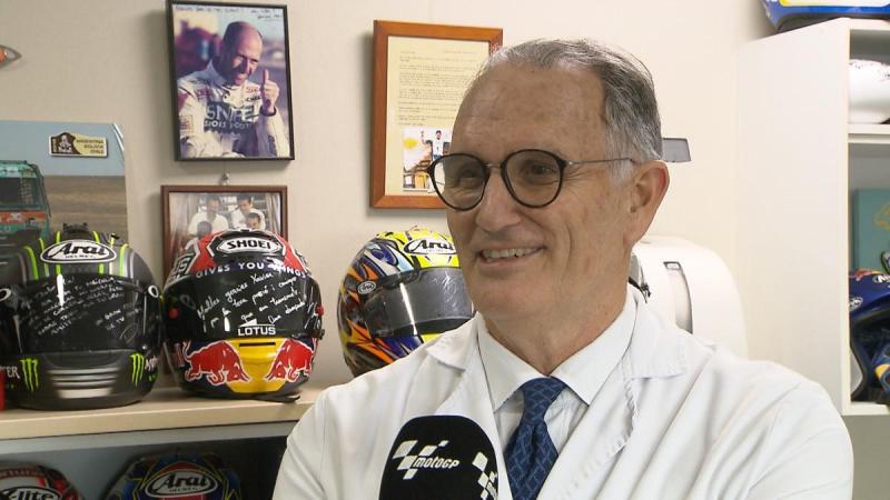 Prof. dr. Xavier Mir, dokter Spanyol yang jadi  langganan para joki MotoGP. (Foto: motogp)