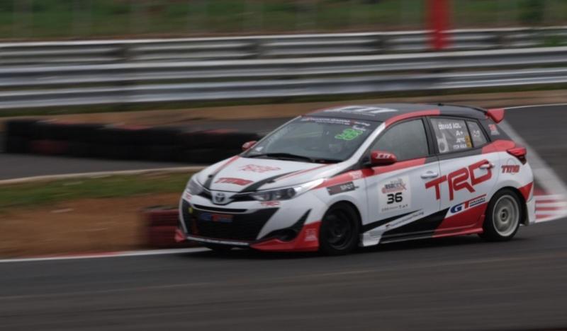 Demas Agil makin menyatu dengan Toyota Yaris yang mengantarnya sebagai runner up JSTC