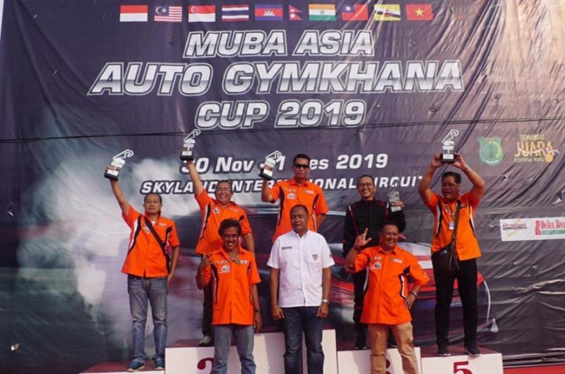 Para juara kelas Executive Muba Asia Auto Gymkhana Cup 2019