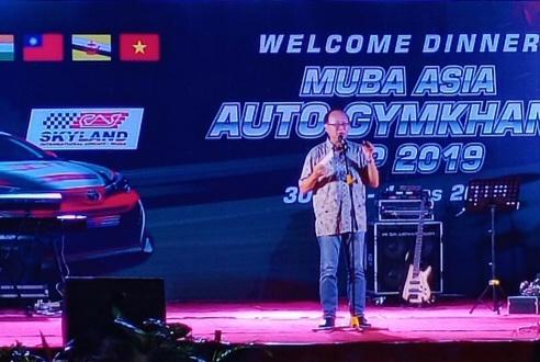 Dr Yeung tampak senang Muba ikut mempopulerkan auto gymkhana di Asia