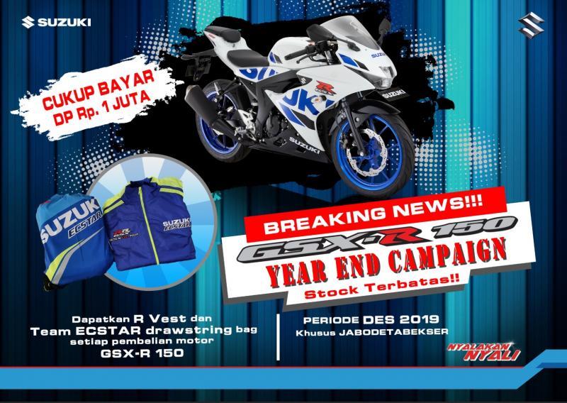 Promo Akhir Tahun, Beli Suzuki GSX-R150 DP Rp 1 Juta Bonus Hadiah Ekslusif