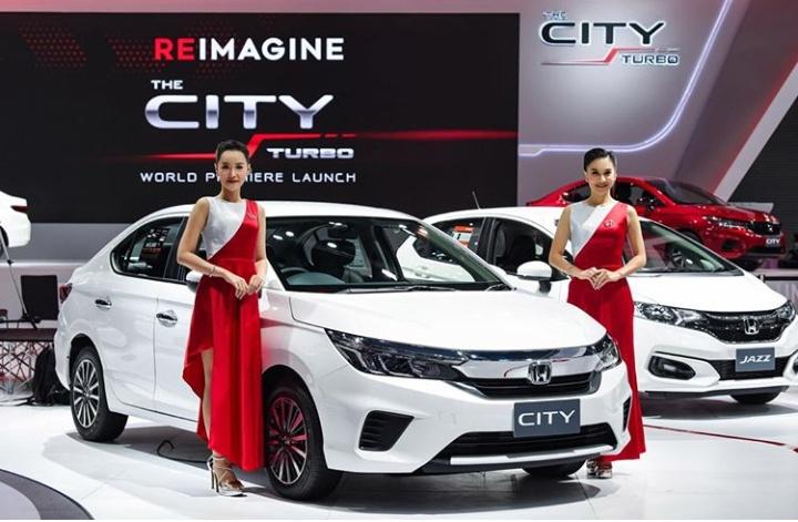 Generasi kelima dari Honda City tampil untuk pertama kalinya di dunia pada peluncuran oleh Honda Automobile (Thailand) Co., Ltd. di Bangkok, 26 November 2019.(hondathailand)
