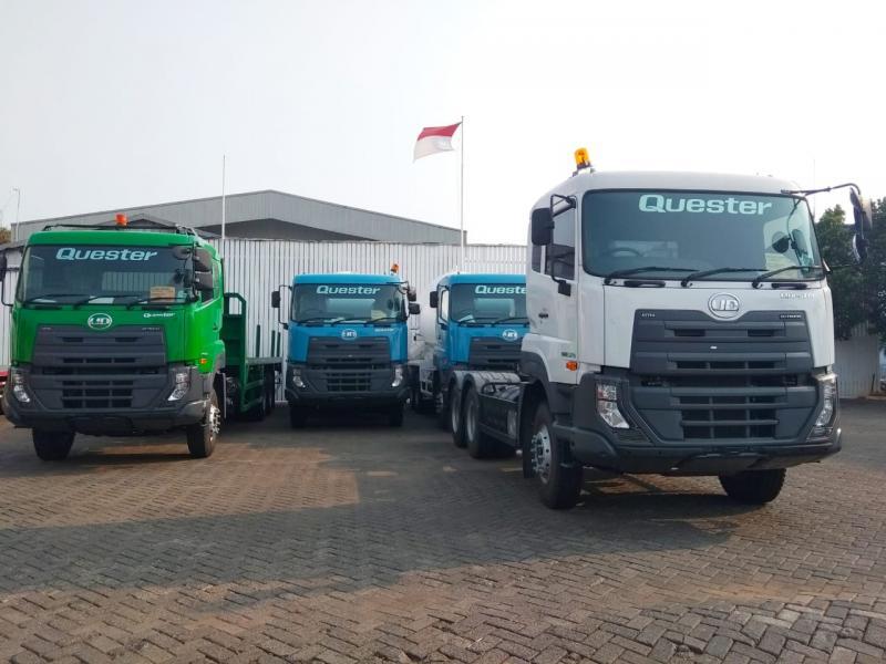 Produk unggulan yang ditawarkan Astra UD Trucks untuk pasar nasional adalah Quester dan Kuzer yang punya ragam varian menyesuaikan spesifikasi yang dibutuhkan. (anto)