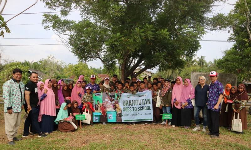 "PT Bridgestone Mining Solutions Indonesia (BMSI) bekerjasama dengan Yayasan Borneo Orangutan Survival (BOS) lanjutkan program ""Orangutan Goes to School"" (OGTS)"