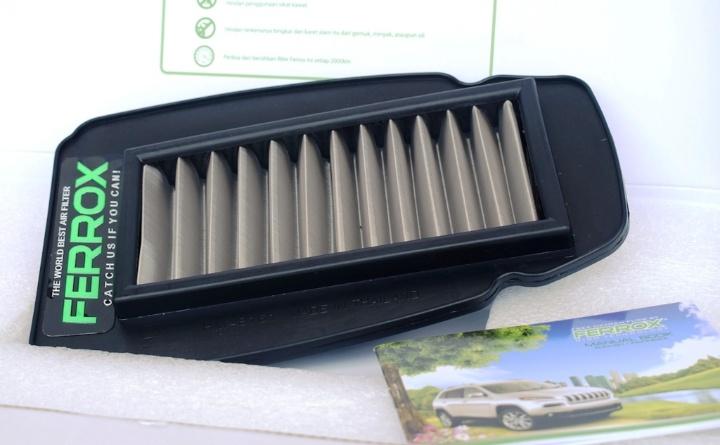Saringan udara ini terbuat dari material stainless steel 304 dengan bentuk zig-zag yang memiliki sudut kemiringan lekukan lebih tajam.(ist)
