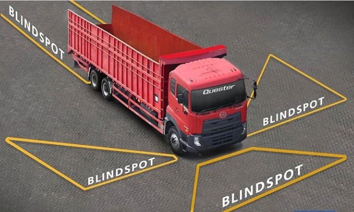 Tentunya, kaca spion tidak dapat diandalkan sepenuhnya untuk mengurangi kecelakaan di jalan raya akibat Blindspot. (astraudtrucks)
