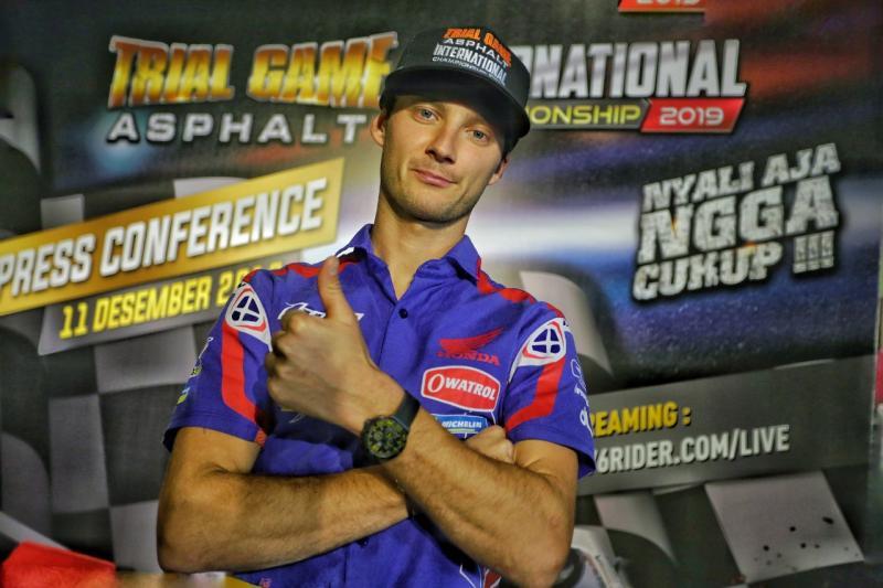 Germain Vincenot, rider asal Perancis yang tampil di seri final Trial Game Asphalt 2019