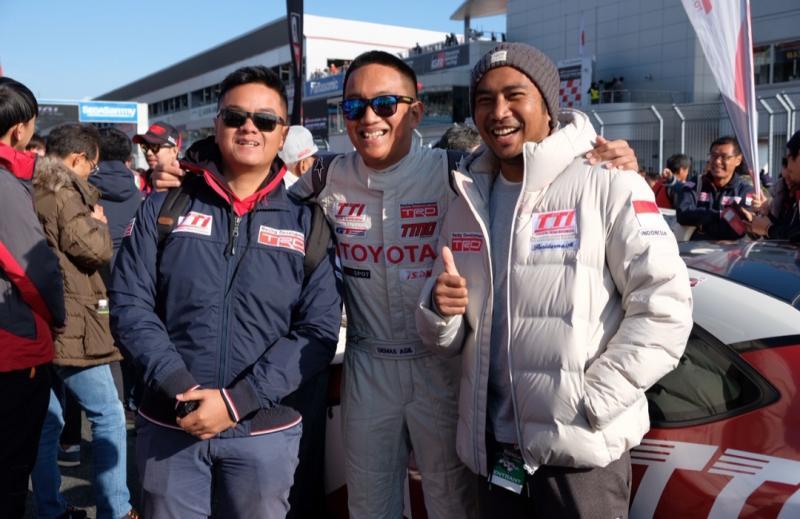 Dari kiri Anjasara Wahyu, Demas Agil dan Haridarma Manoppo, trio Toyota Team Indonesia,