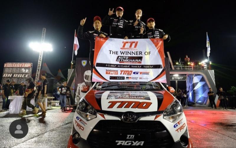 Toyota Team Indonesia akan menerima IMI Awards 2019 untuk juara nasional tim MLDSPOT Auto Gymkhana dan kelas F (modifikasi) atas nama Anjasara Wahyu. (Agung/TTI)