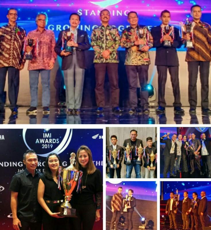 Searah jarum jam : lifetime achievement, IMI DKI, TB Adhi, Rava Mahpud, Sheva serta Novi Bantera Racing. (foto : bs)