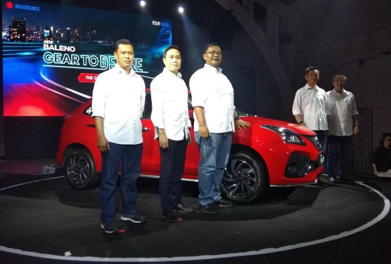 PT Suzuki Indomobil Sales (SIS) meluncurkan New Baleno, yang merupakan Baleno generasi ke-6, di Aluca. SCBD, Jakarta pada Jumat (20/12/2019). (anto)