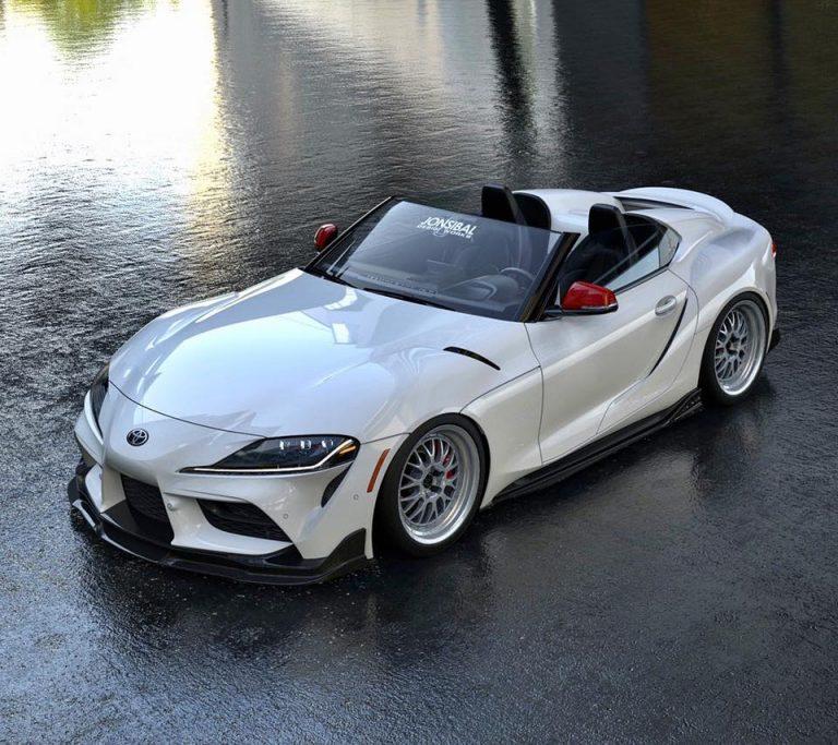 Tampilan Toyota Supra Speedster karya perancang Jon Sibal (foto: carscoops)