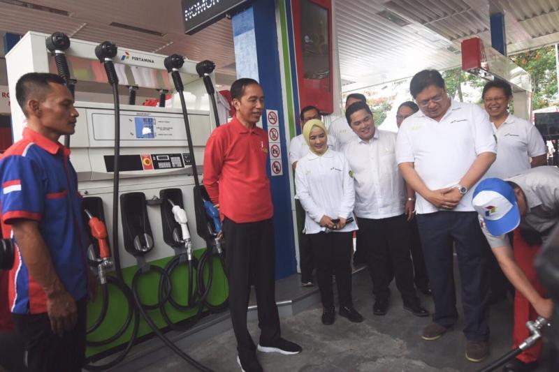 Presiden Jokowi menyebut program B30 yang telah dimulai bulan November lalu dan sekarang sudah diluncurkan.(dok. Pertamina)