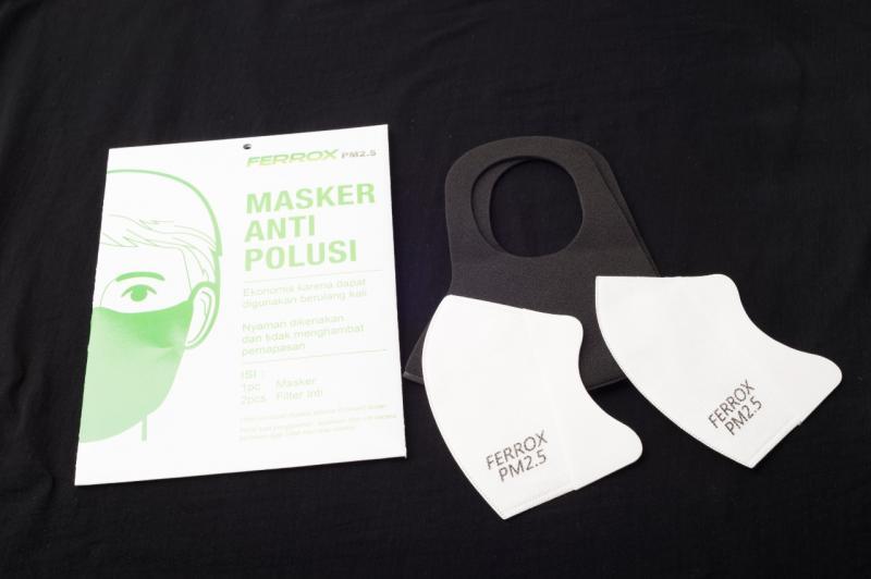 Peduli Kesehatan Bikers, Ferrox Luncurkan Masker Anti Polusi