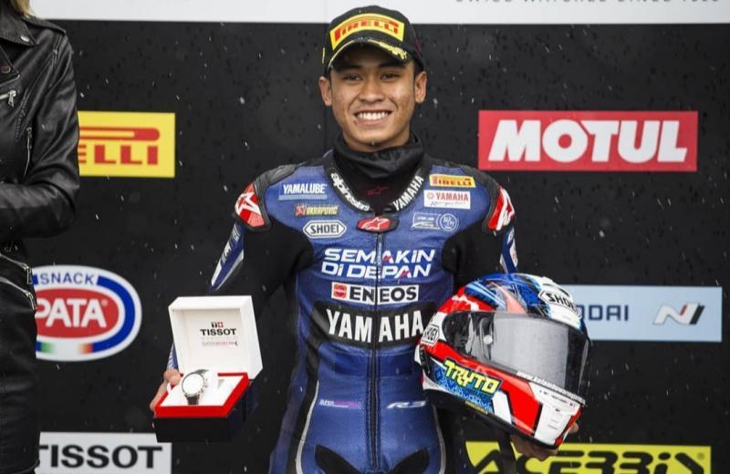 Galang Hendra, kembali ke World Supersport dengan bendera Yamaha Motor Europe