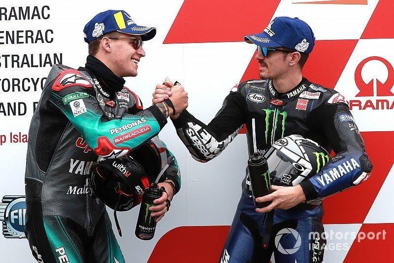 Maverick Vinalea dan Fabio Quartararo, harus berebut simpati Yamaha. (Foto: motorsport)