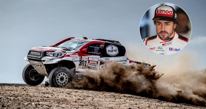 Fernando Alonso (Spanyol) saat jajal Toyota Hilux di gurun Afrika Selatan. (Fptp: rallystar)