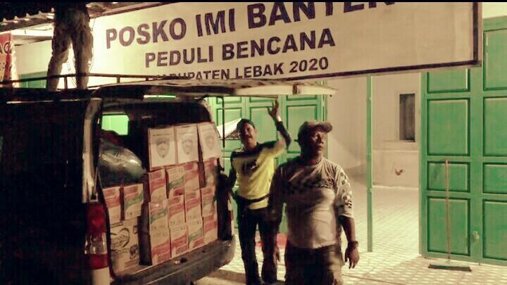 Posko IMI Banten Peduli Bencana di Desa Cipanas, Kabupaten Lebak siap menyalurkan bantuan ke daerah korban bencana banjir